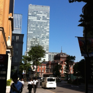 Tokyo railway station conserves its history surrounded by hi-rise buildings