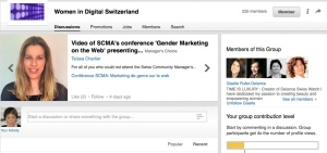 Portal of Women in Digital Switzerland.